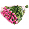 20 pieces fresh pink roses bouquet- ΤΡΙ 07291
