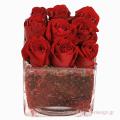 Τριαντάφυλλα και Τροπικά Φυλλώματα - GLASS 18037