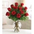 Red roses in vase ΒΑΖ 07228