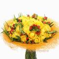 Mπουκέτο με Τριαντάφυλλα και Υπέρικουμ - BOU 088