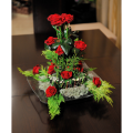 Roses and Tropical Leaves - ROSE 42003