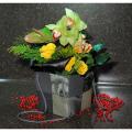 Άγριες Ορχιδέες, Ανθούρια, Τριαντάφυλλα & Τροπικά Φύλλα BOU 0139