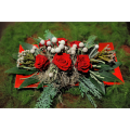 Roses and Tropical Leaves - XMAS 44002