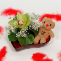 Orchis and Bear-toys in the glass hart - VAL 11004