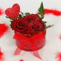 Γυάλινη Βάση με Τριαντάφυλλα - VAL 11010