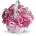 basket with mix flowers  - ΚΑΛ 072240