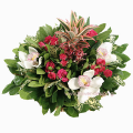 SPECIAL floral arrangement with flowers in a basket- ENG 13009