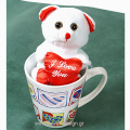 Bear-toy with a cup - PLUSH 26001