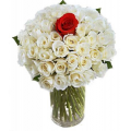 Bouquet of 30 white roses in a vase - ΜΠΟΥ 072244