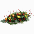 floral arrangement of flowers in a basket - XMAS 44015
