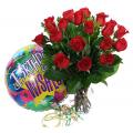 Τριαντάφυλλα σε Βάζο με Μπαλόνι  - ROSE 42022