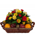 fruit basket and flowers - BEV 40002