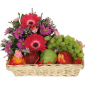 fruit basket and flowers - BEV 40008