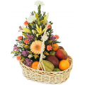 fruit basket and flowers - BEV 40012