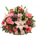Mix flowers in a basket with toys - BIRTH 16007