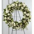 Funeral wreath with floral arrangements - COND 39006