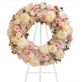 A special wreath of roses and chrysanthemums - COND 39055