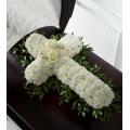 Σταυρός Κηδείας με Γαρίφαλα και Τριαντάφυλλα - COND 39002