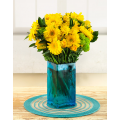 Mix Yellow Flowers in Vase