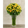 Yellow SYLPHLIKE Roses in Vase