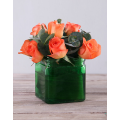 Orange Roses in Glass