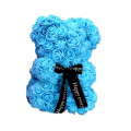 Lightblue Rose Bear