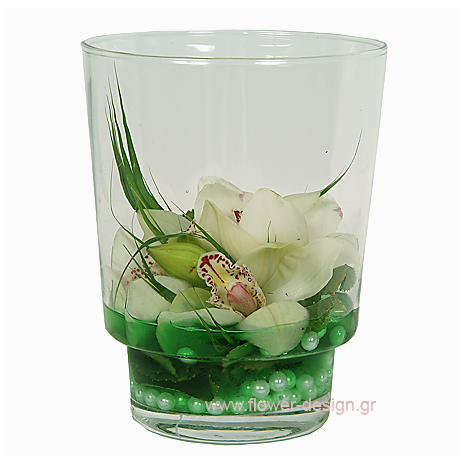 Wild Orchis and Pearls - GLASS 18012