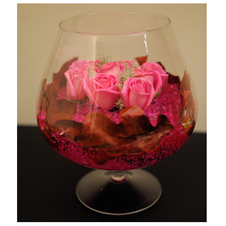 Roses Glass Arrangements - GLASS 18008