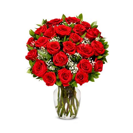Βάζο με 25 Τριαντάφυλλα ΒΑΖ 07230