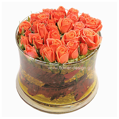 Roses and Tropical Leaves - ROSE 42015
