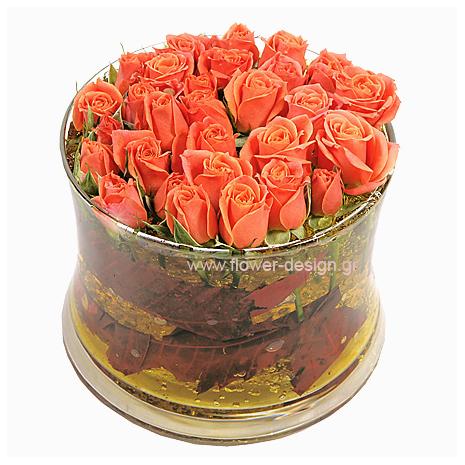Τριαντάφυλλα σε Γυάλα - ROSE 42015