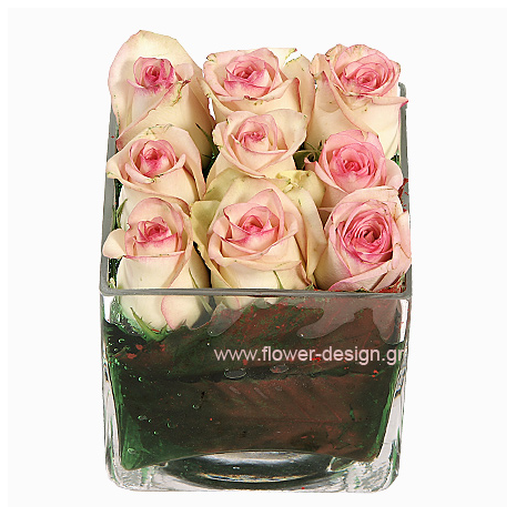 Roses and Tropical Leaves - ROSE 42016