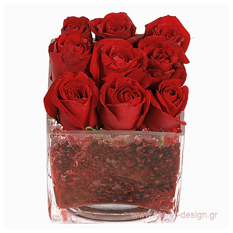 Roses in a glass - BDAY 15007