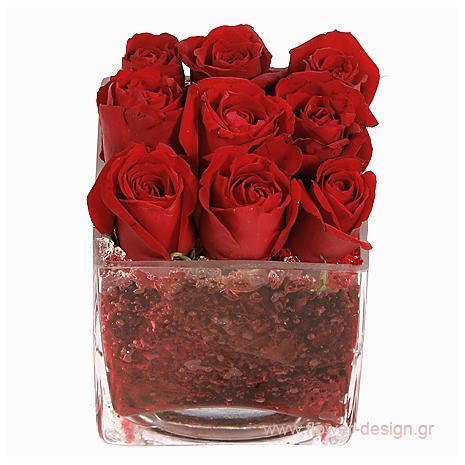 Τριαντάφυλλα και Τροπικά Φυλλώματα - BDAY 15007