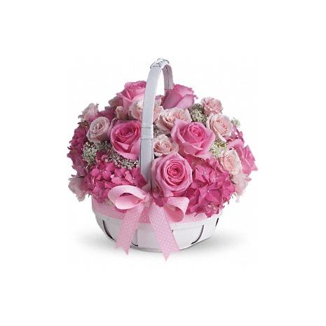 Καλάθι με Πάλ  Μιξ  Χρώματα Λουλουδιών - ΚΑΛ 072240