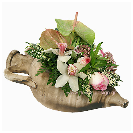 the flower shop proposed  A Flower Arrangements with rose,orhids and anthurio  - ARR 12020