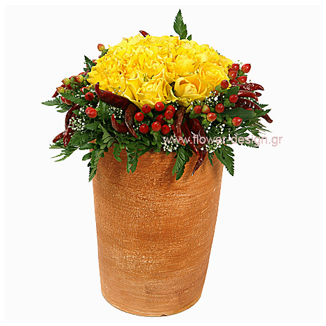 Τριαντάφυλλα, Υπέρικουμ και Αφρικάνικοι Καρποί - CERAM 33005