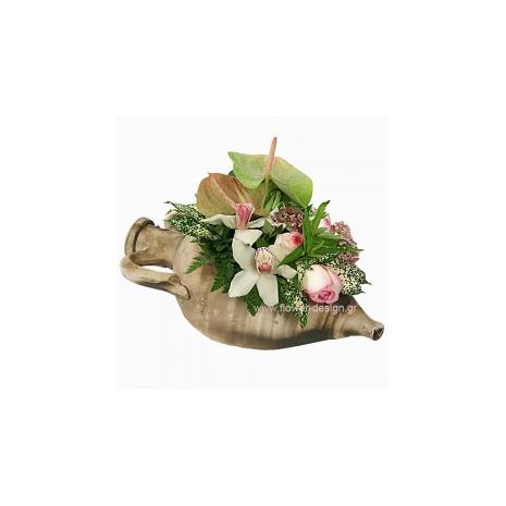 Ανθούρια, Ορχιδέες και Τριαντάφυλλα - CERAM 33008