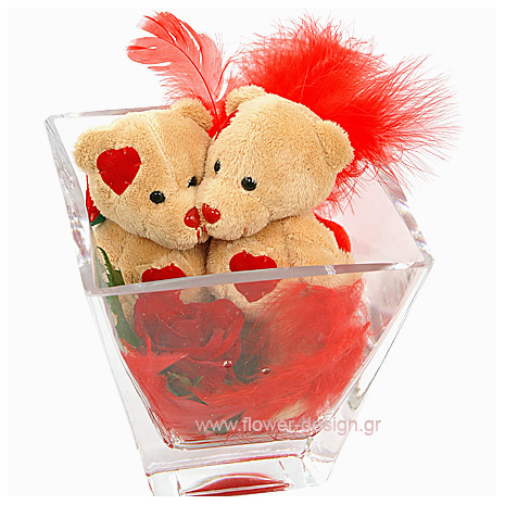 Roses and bear-toys - VAL 11034