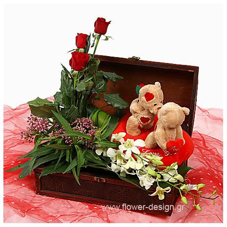 Ορχιδέες και Τριαντάφυλλα - VAL 11025