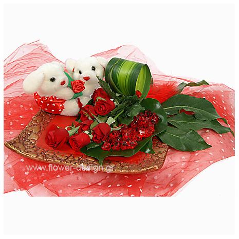 Τριαντάφυλλα και Φυλλώματα - VAL 11038