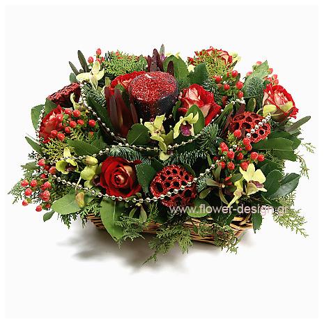 Τριαντάφυλλα, Υπέρικουμ και Ορχιδέες - XMAS 44012