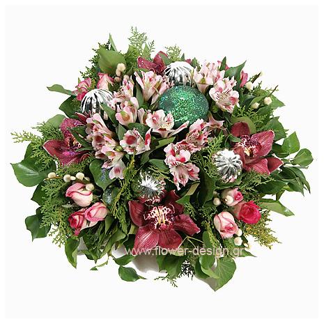 Αλστρομέριες, Ορχιδέες και Τριαντάφυλλα - XMAS 44020