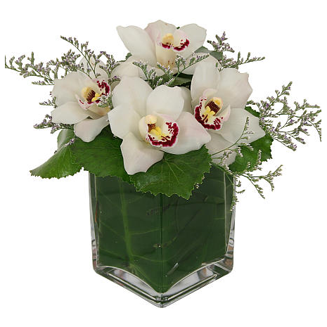 Roses and tropical Leaves - GLASS 18006