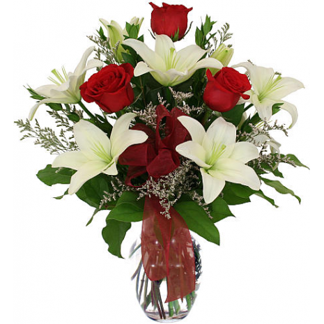 Mix bouquet in a vaze - BOU 0183
