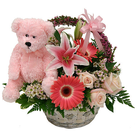 mix flowers and toys in a basket   ΣΥΝ - 072247
