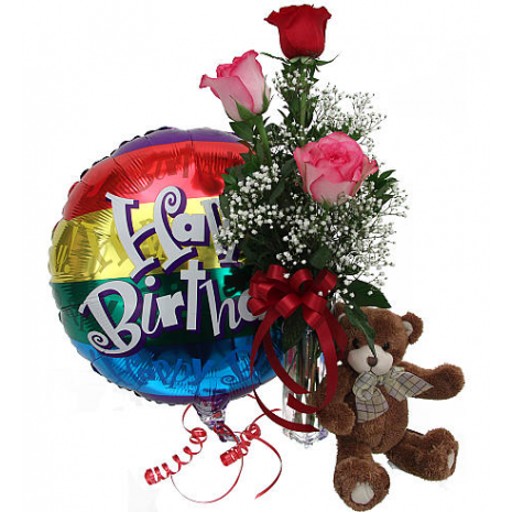Τριαντάφυλλα, Μπαλόνι και Αρκουδάκι - BIR 0254