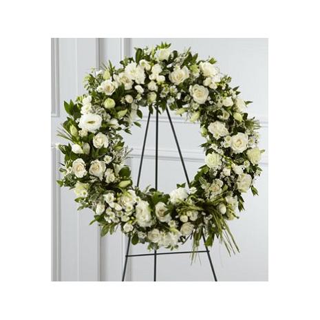 Στεφάνι Κηδείας με Ανθοσυνθέσεις - COND 39006
