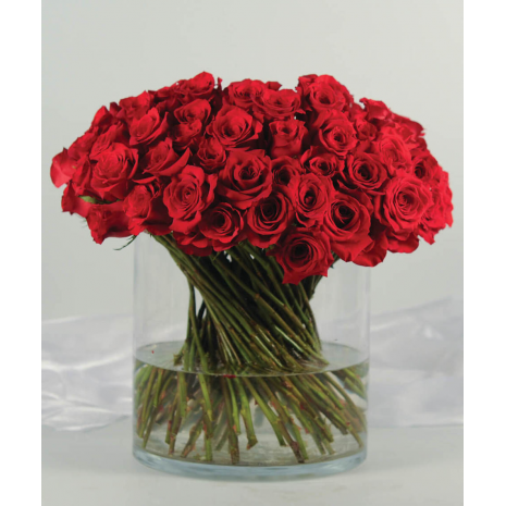 40 Red Roses In A Vase