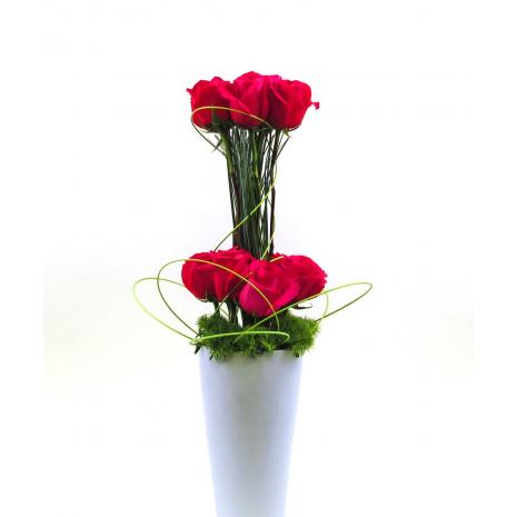 Τριαντάφυλλα και Τροπικά Φυλλώματα - ΤΡΙ 072256